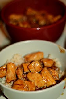 Bourbon Chicken.  A Big hit, and super easy meal for after work