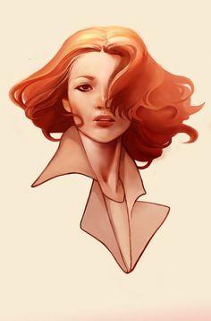 Image result for illustration art redhead