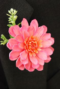 https://flic.kr/p/7GUsFF | Dahlia Clay Flower Boutonniere | You have a cake…