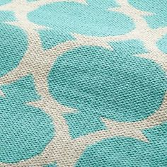 Kids' Rugs: Kids Aqua Woven Cotton Rug in All Rugs