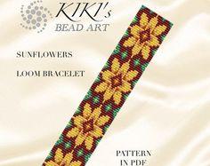 Bead loom pattern Crossing LOOM bracelet pattern por KikisBeadArts