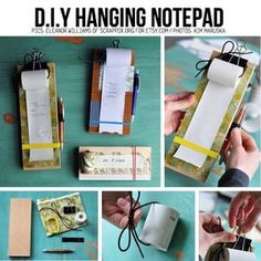 Create your own grocery list notepad. I always see register tape rolls at the second hand store.