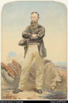 Strutt, William, 1825-1915. Portrait of Robert O'Hara Burke [picture]