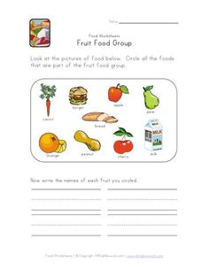 Addition Worksheets Printable Free Excel Food Worksheets  Food Unscramble Worksheet Food Index Printable  Printable Worksheets For 1st Grade Reading Pdf with Weather Station Model Worksheet Pdf Fruit Food Group Worksheet For Kids Look At All The Food Pictures And  Circle Only The Pictures That Are Fruit Then Write The Fruit Names On The  Lines Punctuation Worksheets Grade 3 Word
