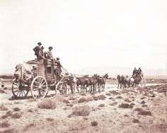 Old Stagecoach In this picture it shows wagons and families traveling to the west.