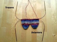 Apuros de una tejedora compulsiva: Dos calcetines a la vez en dos agujas circulares: Empezando a tejer II