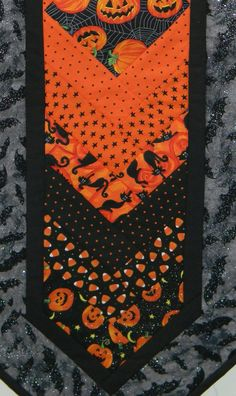 Handmade Machine Quilted Cotton Halloween Table by MountainMajik, $45.00