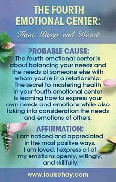 The Fourth Emotional Center - Louise Hay