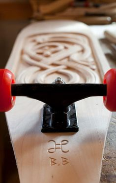 Norwegian dragon skateboards....Brad would think this is cool...it even has his initials on it!