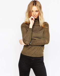 ASOS | ASOS Sweater In Marl With Roll Neck at ASOS
