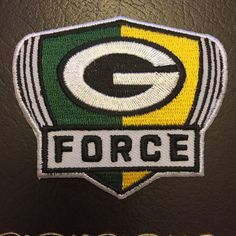 (((((((.   G FORCE,FEEL THE POWER PATCH,GREEN BAY PACKERS #GreenBayPackers