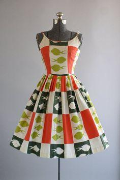 Vintage 1950s cotton pique dress / Tuesday Rose Vintage