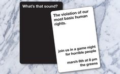 Hey, I found this really awesome Etsy listing at https://www.etsy.com/listing/191470200/cards-against-humanity-game-night