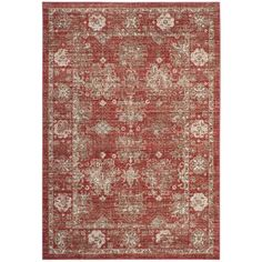 Bungalow Rose Chauncey Red Area Rug Rug Size: Square 6'