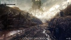 As predicted, the Battlefield 1 Deluxe Edition version has much more content on the October 2016 than the PlayStation Xbox One, and PC. Battlefield 1 Game, Military Drawings, Space Fantasy, Dieselpunk, Far Away, Wilderness, Playstation, Concept Art, Explore