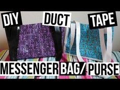 DUCT TAPE MESSENGER BAG/PURSE TUTORIAL! - http://www.ducktapesale.com/duct-tape-messenger-bagpurse-tutorial/
