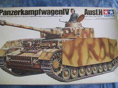1970's Tamiya 1/35 Scale Military Panzer Kampfwagen IV Ausf H Model by MyHillbillyWays on Etsy