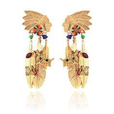 Les boucles d'oreilles indiennes Santa Fe de Gas Bijoux