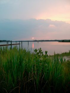 sunset, Point Lookout, the backwaters of the marsh off the Potomac River