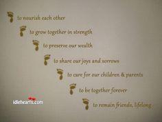 hindu wedding vows in english - Google Search