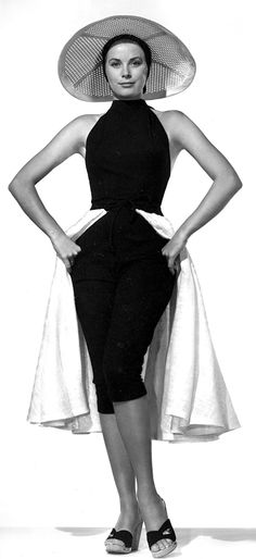 Grace Kelly, in Edith Head, Publicity shot for To Catch A Thief, 1955