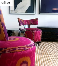 love these in the beautiful bright bold ikat fabrics