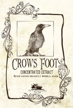 Crows Feet Label