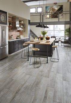 With 400 stores nationwide, you're never far from our expert service and value! Get your FREE summer catalog to browse an exclusive selection of more than 400 styles of today's innovative and trend-forward flooring styles! {Metro Concrete Oak Tile shown}