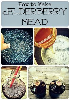How to Make Elderberry Mead uses honey not sugar and not chemicals. Sorta like wine but mead Fermented Honey, Fermented Foods, Samhain, Mead Wine, Mead Beer, How To Make Mead, Mead Recipe, Honey Wine, Homemade Wine