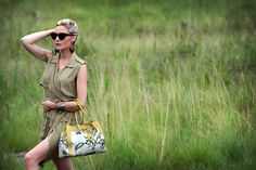 Monkey Palm bag, modelled by Amanda Custo. Hand Bags, Monkey, Amanda, Palm, Africa, Stuff To Buy, Accessories, Collection, Fashion