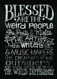 Love this! We're all a little weird.