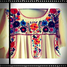 Hippy Chic -    Mexican embroidered dress. Photo by @Clair Miller - Instagram