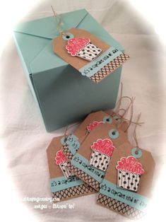 DIY Cupcake Box, Cupcake Party, Stampin' Up!, Gift Box Punch Board