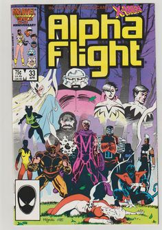 Alpha Flight; Vol 1, 33 Copper Age Comic Book. NM+. April 1986. Marvel Comics