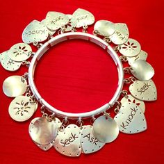 Matthew 7:7 Bracelet This bracelet showcases one of my favorite Bible verses!  I love it but need to clear out my jewelry armoire! It is stretchy to fit any size wrist! Jewelry Bracelets