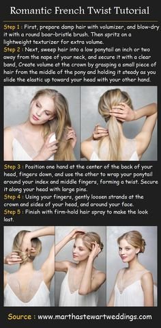 Romantic French Twist Hairstyle