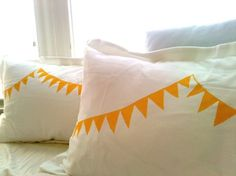 Party Pennant pillow shams: lovely cotton pillow cases with pennant design