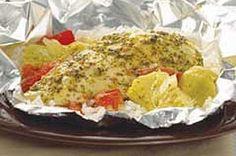 Foil Packed Chicken & Artichoke Dinner