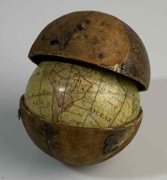 Pocket globe from 1793.