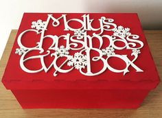 personalised christmas eve box, personalized christmas eve box, wooden christmas eve box, christmas eve the night before christmas tradition Wooden Christmas Eve Box, Personalised Christmas Eve Box, Childrens Christmas, Magical Christmas, Diy Christmas Gifts, Simple Christmas, Christmas Themes, Christmas 2015, Holiday Ideas
