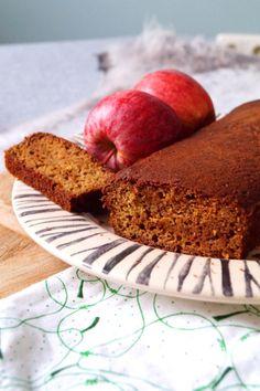 glutenvrije en suikervrije cake met appelmoes