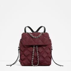 ZARA - WOMAN - QUILTED CHAIN BACKPACK