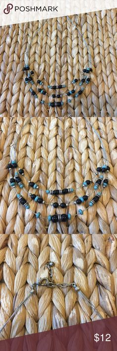 Tribal necklace Black, grey and mint (goes great with its matching bracelet, also in my closet!) Jewelry Necklaces