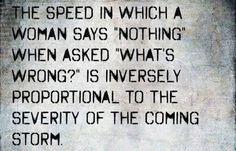 als vrouw moet ik toch bekennen dat hier een kern van waarheid in zit ;-)