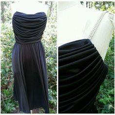 Fluid Dress Size Small Draped Cowl Maxi Diamond Vintage 80s Cocktail Vijack #SusanRoselliforVijack #Maxi #Cocktail