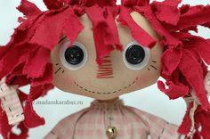 "doll by Madam Karabas (Moscow, Russia)....""happy, happy, joy, joy!"" is what i'm feeling with this CUTE raggedy doll!... =0))"