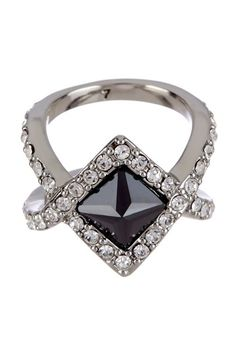 Rebecca Minkoff Flipped CZ & Pave Swarovski Crystal Ring - Size 7 by One-Of-A-Kind Finds: Jewelry on @HauteLook