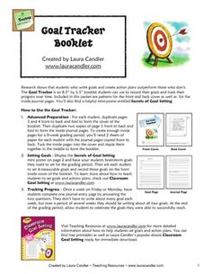 "Research shows that students who write goals and create action plans outperform those who don't. The Goal Tracker is an 8.5"" by 5.5"" booklet ..."