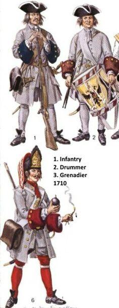 SYW- Austria: Austrian Army - Spanish War of Succession, by (artist unknown).
