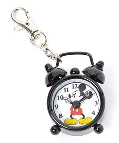 Look what I found on #zulily! Black Mickey Mouse Hands Alarm Clock Key Chain #zulilyfinds